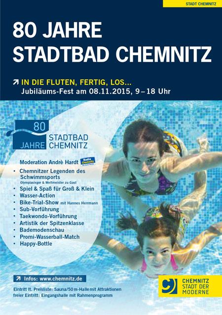 Fotoshooting und Fotoausstellung zu 80 Jahre Stadtbad Chemnitz am 8. November